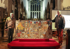 Mosaic unveiling and celebration