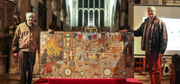 Mosaic unveiling and celebration