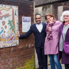 Angela and Bev with Wiltshire Councillor Atiqul Hoque | John Palmer