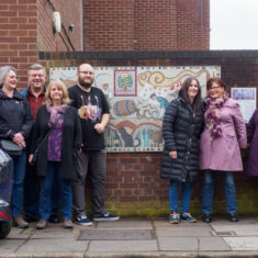 Happy mosaic makers and guests | John Palmer